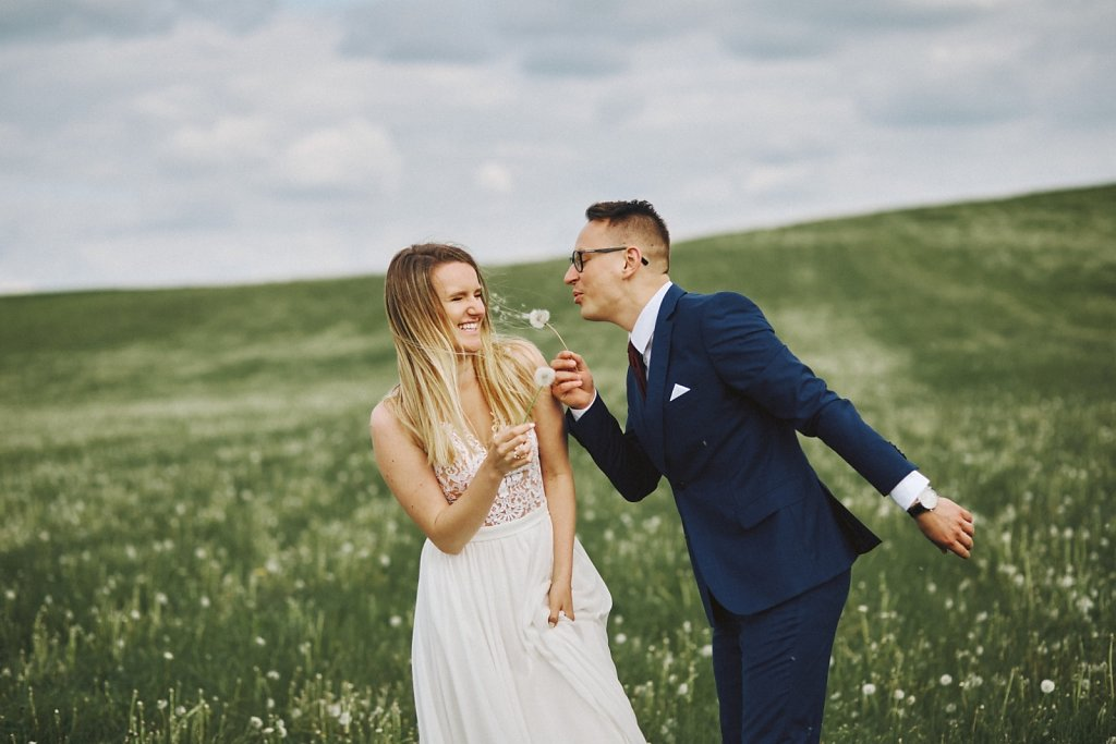 Wiosenny plener ślubny