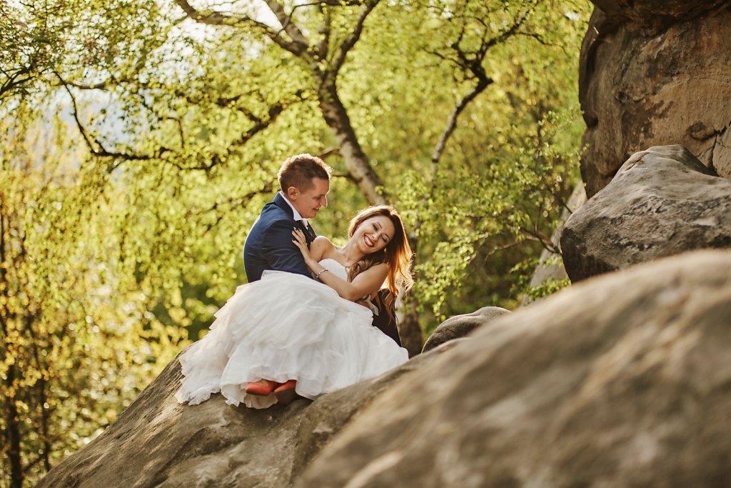 Ślubna fotografia - Plener Gosi i Grześka