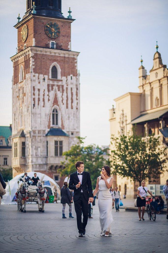Fotografie ze ślubu - Krakowskie klimaty