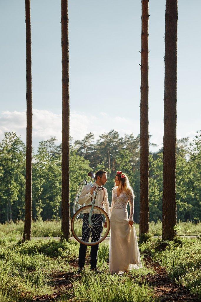 Fotografie ze ślubu - Sesja ślubna z pasją