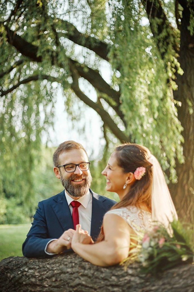 Ślubna fotografia - Plener Izy i Łukasza