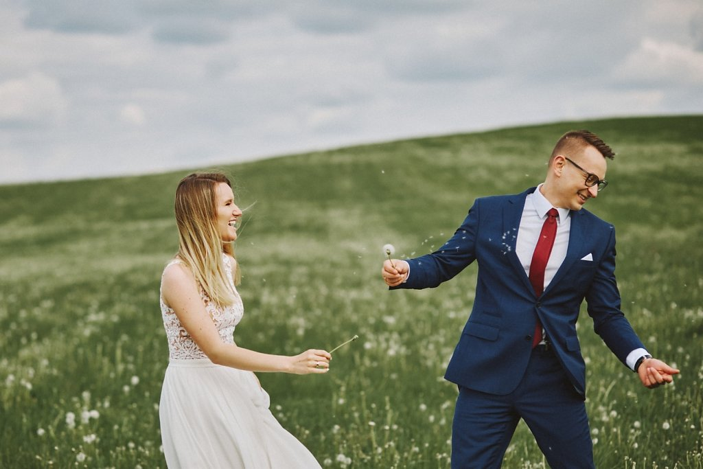 Album ślubny - Wiosenny plener ślubny