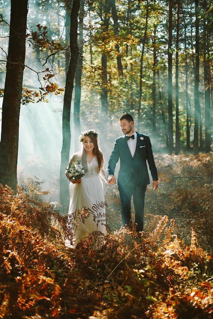 Album ślubny - Jesienią w słońcu, w stylu boho
