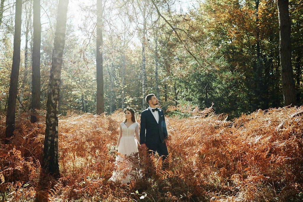 Fotografie ze ślubu - Jesienią w słońcu, w stylu boho