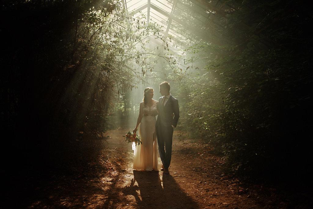 Sesja ślubna - Magiczna szklarnia :)