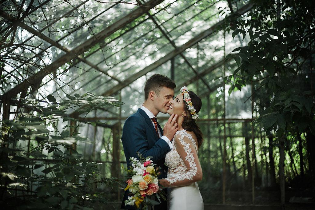 Fotografie ze ślubu - Magiczna szklarnia :)