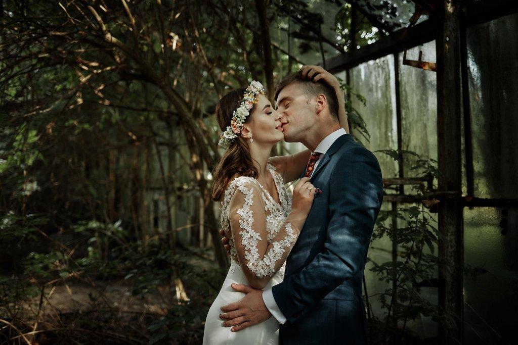 Ślubna fotografia - Magiczna szklarnia :)
