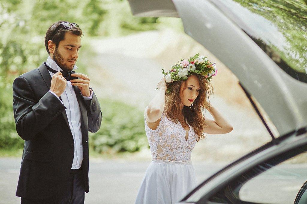 Ślubna fotografia - Sesja ślubna Oli i Darka