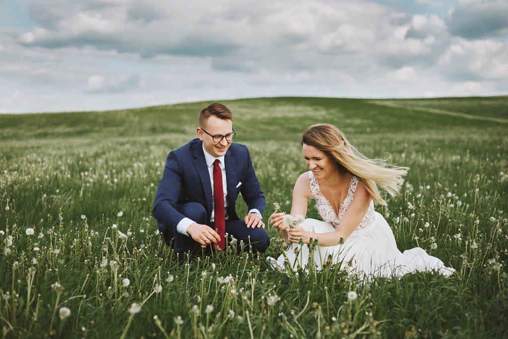 Fotografie ze ślubu - Wiosenny plener ślubny